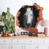 3D Muursticker Wit Paard