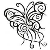 Muursticker Vlinder Tribal