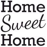 Muursticker Home Sweet Home 2