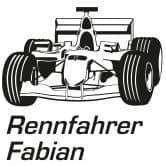 Wandtattoo + Name Rennfahrer