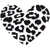 Wandtattoo Leopardenherz