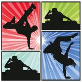 Wandtattoo Dance