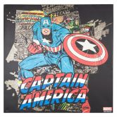 Leinwandbild Marvel Comics - Captain America Black