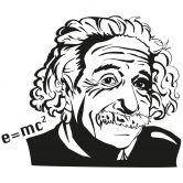 Sticker mural - Albert Einstein 2