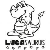 Wandtattoo Namen + Dinosaurus 01