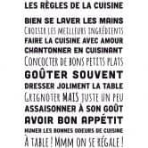 Adesivo murale Les Règles de la cuisine