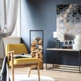 Acrylglasbild Fredriksson - Blaue Geometrie