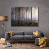 Acrylglasbild - Morgennebel im Wald
