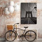 Il ponte di Brooklyn in prospettiva
