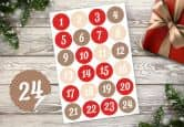 Adventskalender Set - Polka Dots