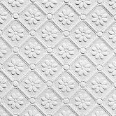 Anaglypta® Amber Luxuriöse strukturierte Vinyltapete überstreichbar, weiß