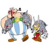Wandtattoo Asterix & Obelix - Wildschweinjagd