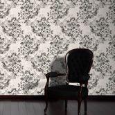 A.S. Création Strukturprofiltapete Belle Epoque grau, metallic, schwarz
