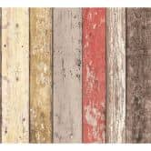 A.S. Création behang Best of Wood`n Stone 2nd Edition beige, bruin, rood
