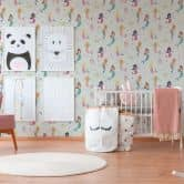 A.S. Création paper wallpaper Boys & Girls 5 blue, multicolored, green