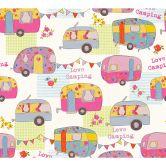 A.S. Création Papiertapete Boys & Girls 6 Tapete Love Camping bunt, creme, metallic
