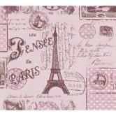 A.S. Création paper behang Boys & Girls 5 bruin, rood, purper