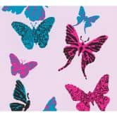 A.S. Création Papiertapete Boys & Girls 6 Tapete mit Schmetterlingen blau, schwarz, lila