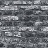 A.S. Création Vliestapete il Decoro Tapete in Vintage Backstein Optik grau, schwarz