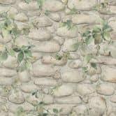 A.S. Création - carta da paratiDekora Natur 6 colore bianco perla, giallo ocra, verde foglia, verde felce