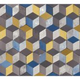 A.S. Création Vliestapete Authentic Walls 2 Tapete in 3D Optik geometrisch blau, braun, grau