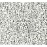 A.S. Création Fleece Wallpaper Boho Love black, white, grey