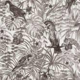 A.S. Création Vliestapete Greenery Dschungeltapete mit Vögeln grau, schwarz, weiß