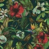 A.S. Création Vliestapete Greenery Blumentapete floral gelb, grün, rot