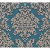 Livingwalls Vliestapete mit Glitter Metropolitan Stories Lizzy London beige, blau, metallic