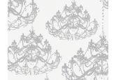Papier peint intissé A.S. Création NAF NAF gris platine, blanc signal