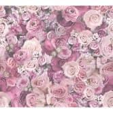 A.S. Création Vliestapete Urban Flowers Blumentapete mit Rosen lila