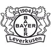 Wandtattoo Bayer 04 Leverkusen Logo einfarbig