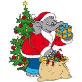 Wandtattoo Benjamin als Weihnachtsmann