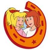 Wandtattoo Bibi&Tina im Hufeisen