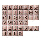 Alu-Dibond Kupfereffekt - Buchstabensteine - Shabby