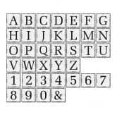 Alu-Dibond Buchstabensteine - Shabby