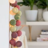"Cotton Ball Lights - LED Lichterkette ""Forest Fruit"" 20-tlg."