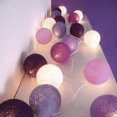 "Cotton Ball Lights - LED Lichterkette ""Purple"" 20-tlg."