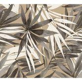 Designdschungel by Laura N. Vliestapete mit Palmenprint Dschungel Tapete beige, braun, weiß