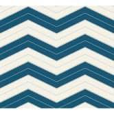 Designdschungel by Laura N. Vliestapete im skandinavischen Look blau, metallic, weiß