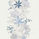 Esprit Home Vliestapete mit Glitter Romantic Botanics blau,metallic,weiß