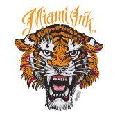 Fensterbild Miami Ink Tiger