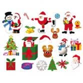 Raamstickers: Kerstmis Set 2