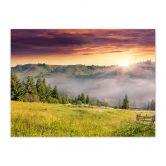 Fotopuzzle Bergtal im Nebel