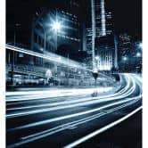 Fototapete Lichter der Stadt - 240x260 cm