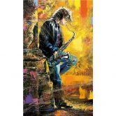 Fototapete Guy playing a Saxophone