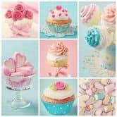 Fotobehang Cupcake Collage
