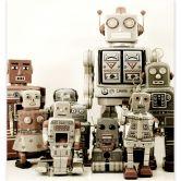 Fototapete Versammlung der Roboter - 240x260 cm