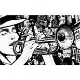 Fototapete Sound of a Street-Musician