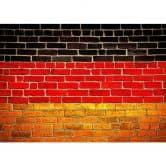 Fototapete Vliestapete Deutsche Flagge Mauer (Rolle)